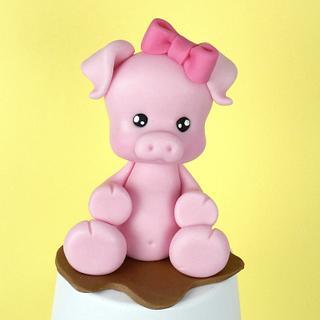 Pig cake topper - Cake by Alex
