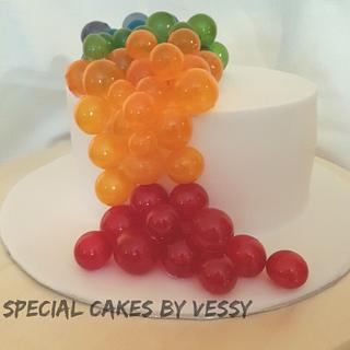 Gelatin bubbles cake