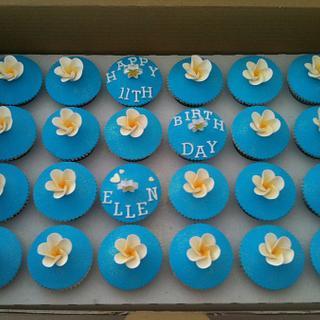 Girls birthday cupcakes