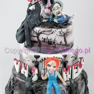 Horror Cake / Tort z postaciami z horrorów