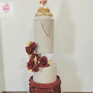 Gravity defying wedding cake