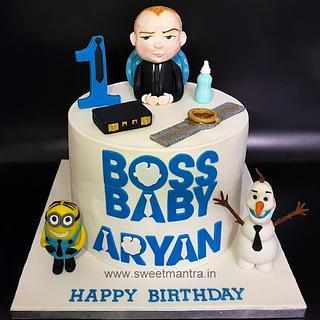 Boss Baby theme cake for 1st birthday
