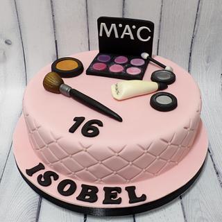 Mac Make Up Cake - Cake by Extra Mile Icing