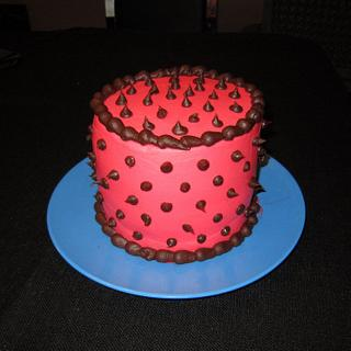 Pink Spike Cake - Cake by Michelle