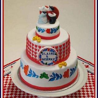 Dutch farmer wedding cake