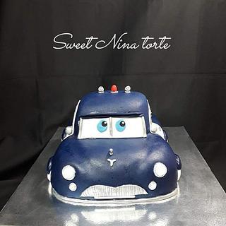 Cars 3d cake
