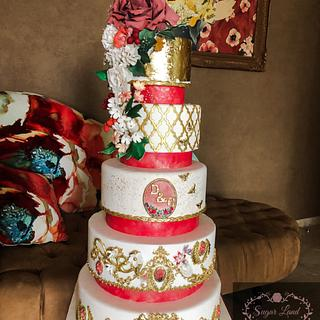 Beautiful floral Wedding Cake