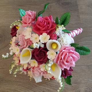 Sugar flower Wedding bouquet  - Cake by Liselotte (Taartje van Lot)
