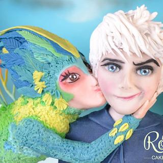 Merry Kissmas Jack Frost - Cake by Rosie Cake-Diva