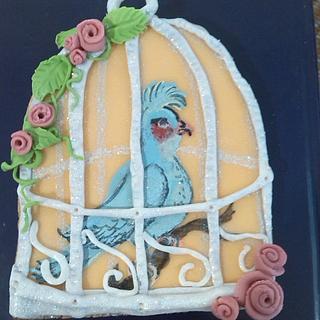 blue bird cookie