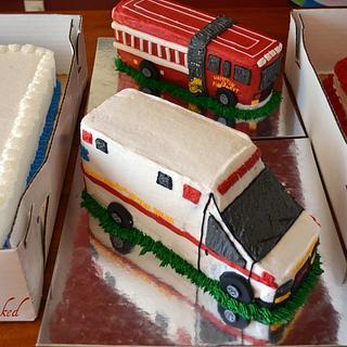 3D Ambulance and Fire truck