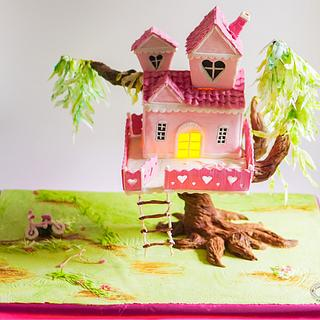 Gravity Defying Tree House (Pretty Pink for Yasmine Collaboration)