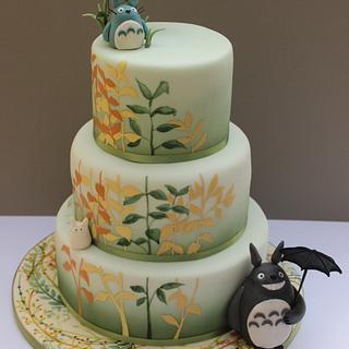 Totoro wedding cake