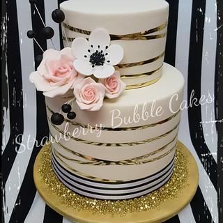 Classic pinstriped cake - Cake by Corni