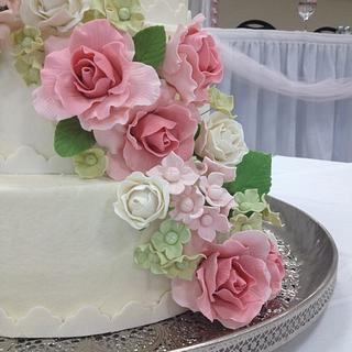 Garden Party Wedding Cake