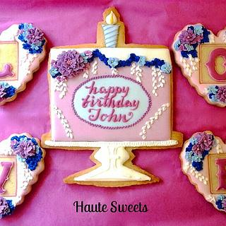 50th Birthday Cookie Set