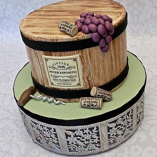 Wine barrel cake