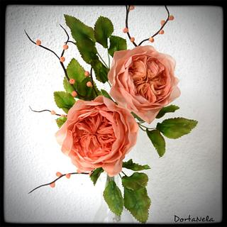 Austin Roses from wafer paper