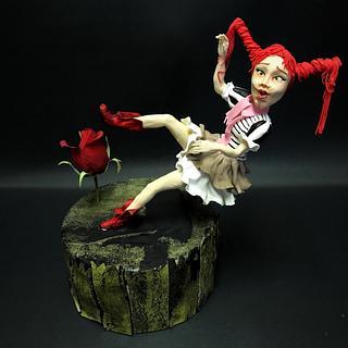 Falling Girl Sugarpaste Figurine