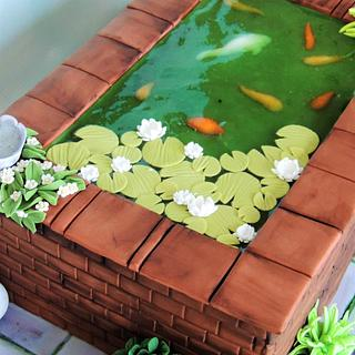 Fishpond - Cake by Shereen