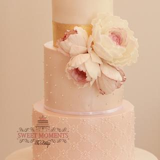 Baby Pink Engagement Cake to celebrate LOVE