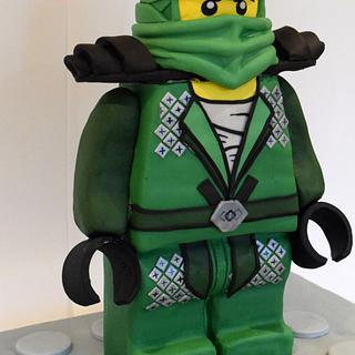Lego Ninjago Standing Lloyd Cake