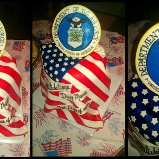 Air Force Retirement  - Cake by Tiffany Palmer