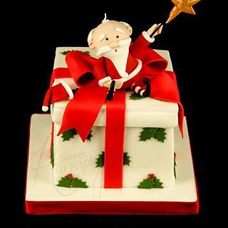 Santa on a parcel