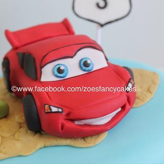 Lightning McQueen tutorial - Cake by Zoe's Fancy Cakes