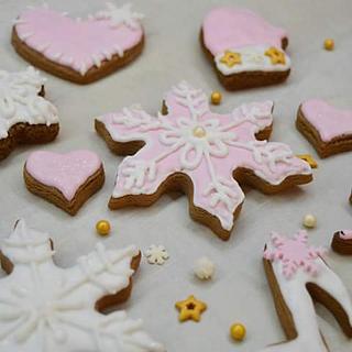 Pinky snowflakes