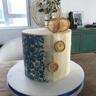 China blue - Cake by Emmascakeshk