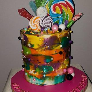 Abstract Candy Cake