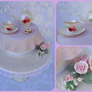 Tea party themed cake - Cake by Amanda Brunott