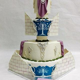 Wedding Cake Lord of the Rings, the Elves / Tarta de boda Señor de los anillos, los Elfos