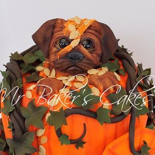 Grumpy Pug 2.0: Autumn Edition - Cake by Mr Baker's Cakes