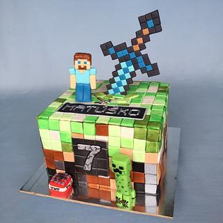 Minecraft cake - Cake by Layla A
