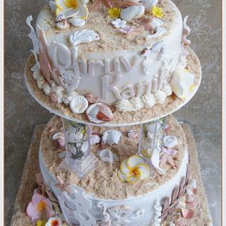 Beach Theme Anniversary Cake