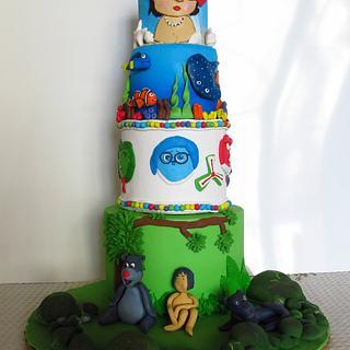 Disney Darlings - Cake by Monika Srivastava