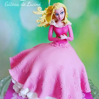 Handmade edible Sleeping Beauty (3D cake)