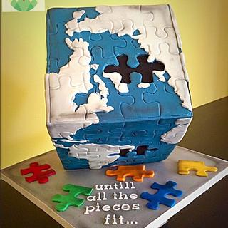Sugar Art for Autism - Cake by Cakes on the Hill
