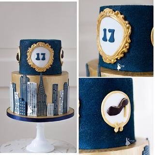 Chique sweet 17 cake - Cake by Taartjes van An (Anneke)