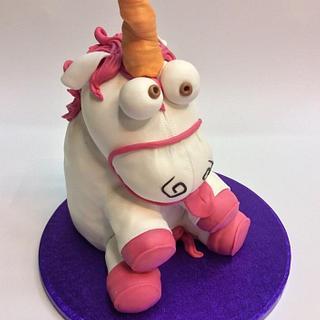 Tarta 3d unicornio de peluche de gru