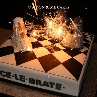 Dalek Birthday Cake