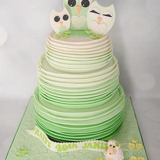 Ombre Mint Green Ruffle cake - Cake by Lulubelle's Bakes