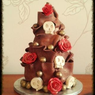 Skulls and Roses Chocolate Wrap