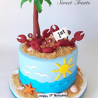 Crabby Birthday!! - Cake by MimisSweetTreats