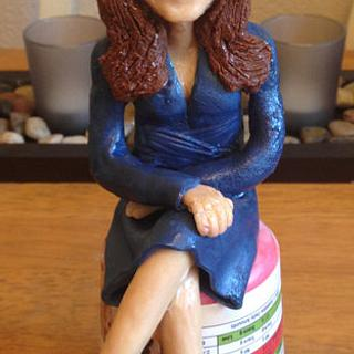 Kate Middleton Modelling Chocolate figure
