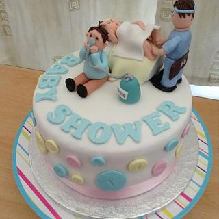 Funny baby shower cake - Cake by Hellocupcake