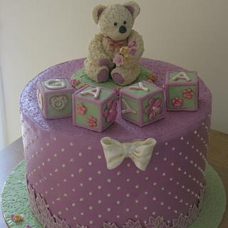 Polka Dots, Blocks and a Teddy