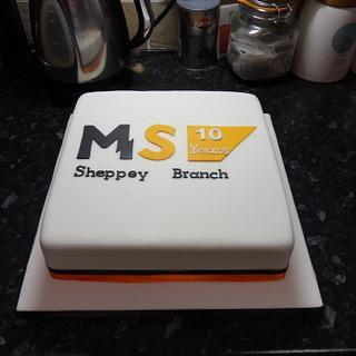 MS Society anniversary cake